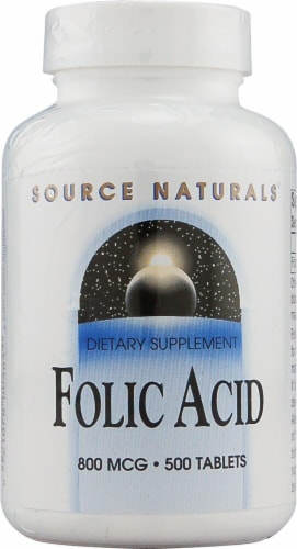 Source Naturals  Folic Acid Perspective: front