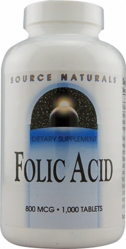 Source Naturals  Folic Acid Perspective: front