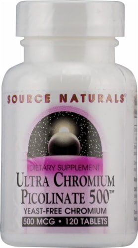 Source Naturals  Ultra Chromium Picolinate 500™ Perspective: front