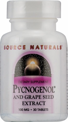 Source Naturals  Pycnogenol® and Grape Seed Extract Perspective: front