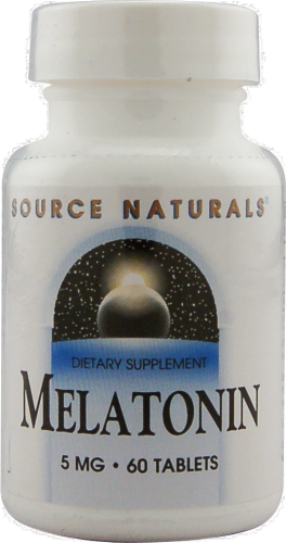 Source Naturals Melatonin Tablets 5mg Perspective: front