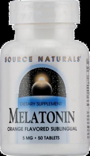 Source Naturals Melatonin Orange Flavored Tablets 5 mg Perspective: front