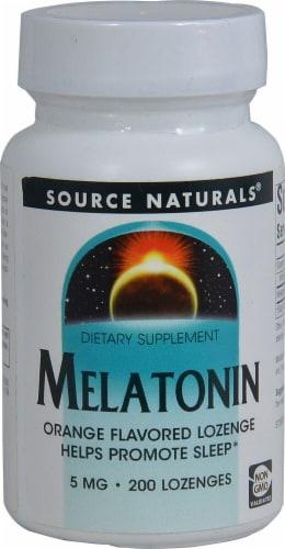 Source Naturals  Melatonin   Orange Perspective: front