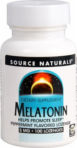 Source Naturals  Melatonin Sublingual   Peppermint Perspective: front