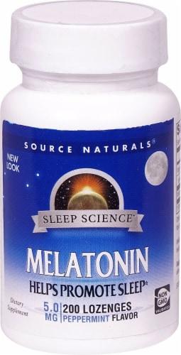 Source Naturals  Melatonin   Peppermint Perspective: front