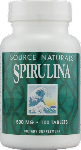 Source Naturals Spirulina Dietary Supplement 500 mg Perspective: front