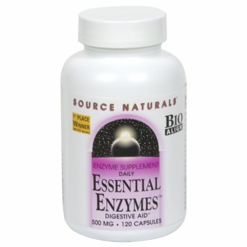 Source Naturals Essential Enzymes Capsules Perspective: front