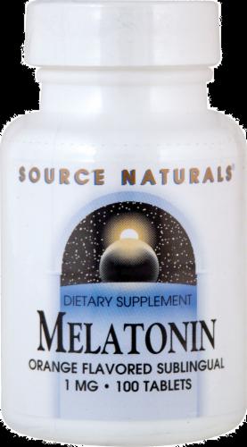Source Naturals Melatonin Tablets Perspective: front