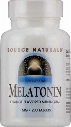 Source Naturals  Melatonin Sublingual   Orange Perspective: front