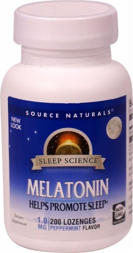 Source Naturals  Melatonin Sublingual   Peppermint Perspective: front