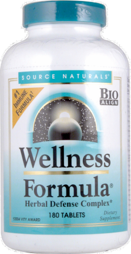 Source Naturals Wellness Formula Herbal Defense Tablets Perspective: front
