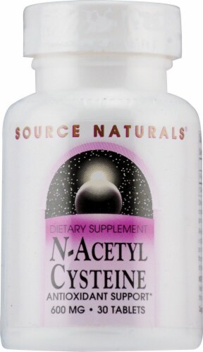 Source Naturals N-Acetyl Cysteine Tablets 600mg Perspective: front