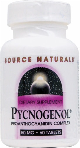 Source Naturals Pycnogenol Tablets 50mg Perspective: front