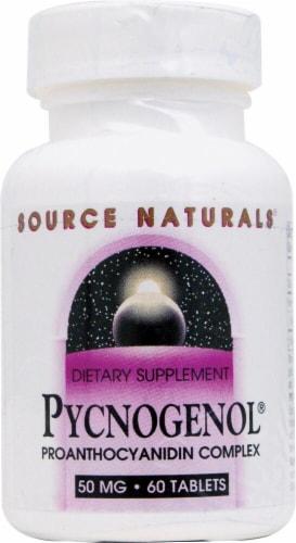 Source Naturals Pycnogenol Tablets 50mg Perspective: front