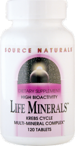Source Naturals High Bioactivity Life Minerals Tablets Perspective: front