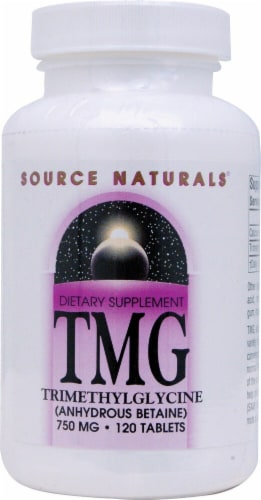 Source Naturals  TMG Trimethylglycine Anhydrous Betaine Perspective: front