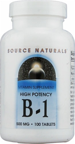 Source Naturals  B-1 High Potency Perspective: front
