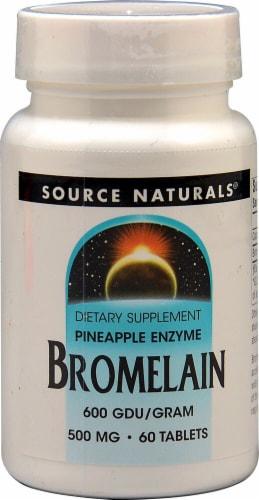 Source Naturals  Bromelain 600 GDU/gram Perspective: front