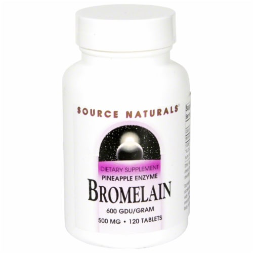 Source Naturals Bromelain Pineapple Enzyme 500 mg Tablets Perspective: front