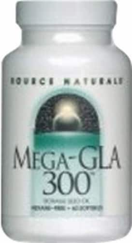 Source Naturals  Mega GLA 300™ Borage Seed Oil Perspective: front