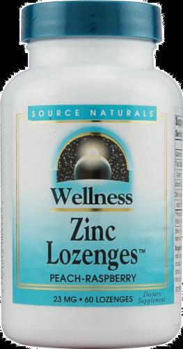 Source Naturals Wellness Peach-Raspberry Zinc Lozenges Perspective: front