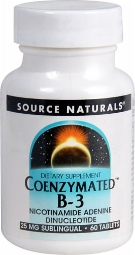 Source Naturals Coenzymated B-3 Tablets 25mg Perspective: front