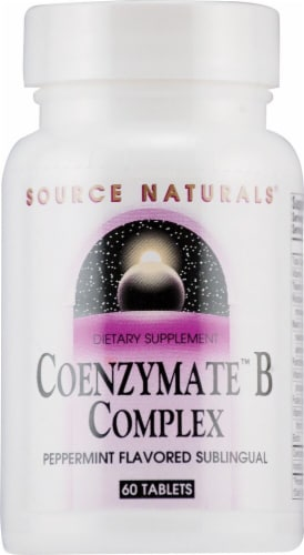 Source Naturals  Coenzymate™ B Complex Sublingual   Peppermint Perspective: front