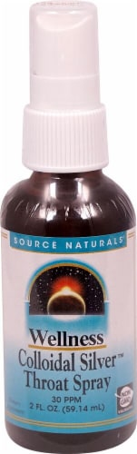Source Naturals  Wellness Colloidal Silver™ Throat Spray Perspective: front