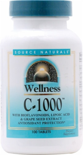 Source Naturals Wellness C-1000 Tablets Perspective: front