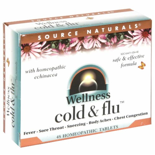 Source Naturals Wellness Cold & Flu Tablets Perspective: front