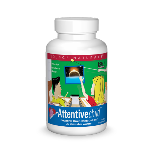 Source Naturals Attentive Child Sweet & Tart Chewable Wafers Perspective: front