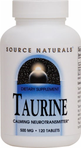 Source Naturals Taurine Tablets 500mg Perspective: front