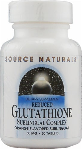 Source Naturals Reduced Glutathione Orange Flavored Tablets 50 mg Perspective: front