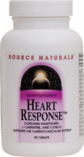 Source Naturals Heart Response Tablets Perspective: front
