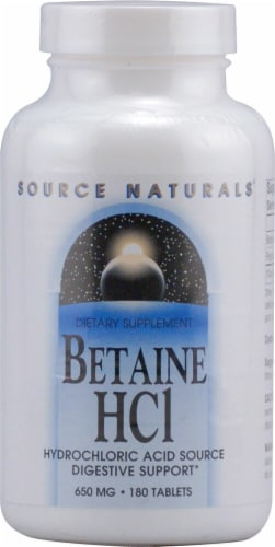 Source Naturals  Betaine HCl Perspective: front