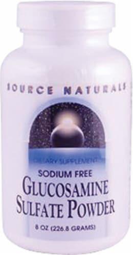 Source Naturals  Sodium Free Glucosamine Sulfate Powder Perspective: front