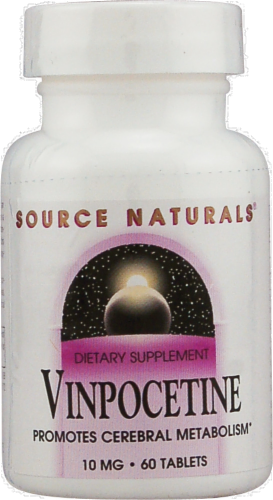 Source Naturals Vinpocetine Tablets 10 mg Perspective: front
