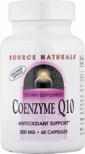 Source Naturals Coenzyme Q10 Capsules 200mg Perspective: front