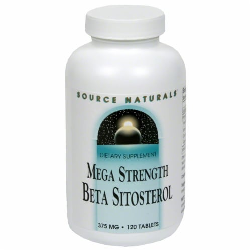 Source Naturals Mega Strength Beta Sitosterol 375 mg Tablets Perspective: front