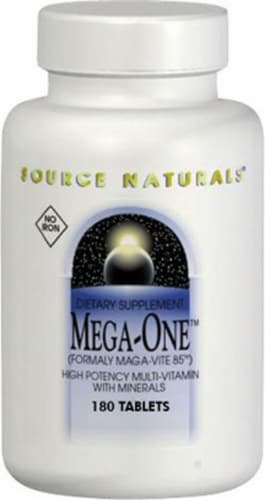Source Naturals  Mega-One™ Multi-Vitamin No Iron Perspective: front