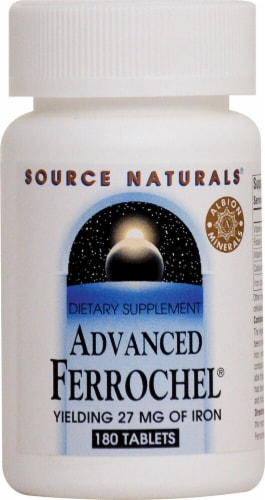Source Naturals  Advanced Ferrochel® Iron Perspective: front