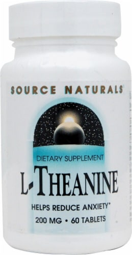 Source Naturals L-Theanine Tablets 200mg Perspective: front