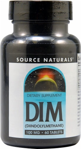 Source Naturals DIM Diindolylmethane Tablets 100 mg Perspective: front