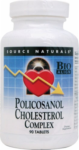 Source Naturals Policosanol Cholesterol Complex Tablets Perspective: front