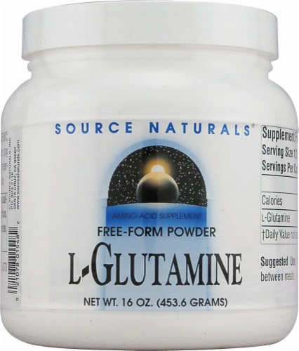 Source Naturals  Free Form L-Glutamine Powder Perspective: front