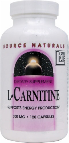 Source Naturals L-Carnitine Capsules 500mg Perspective: front