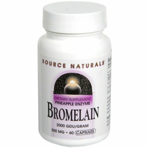 Source Naturals Bromelain Dietary Supplement 500mg Tablets Perspective: front