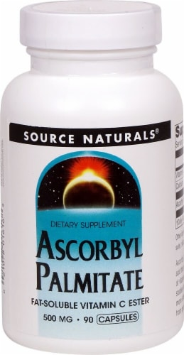 Source Naturals Ascorbyl Palmitate Fat Soluble Vitamin C Ester Capsules 500mg Perspective: front
