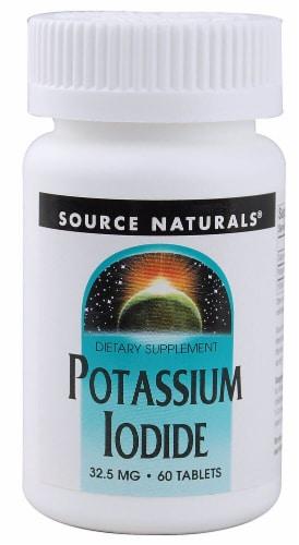 Source Naturals Potassium Iodide Tablets 32.5mg Perspective: front