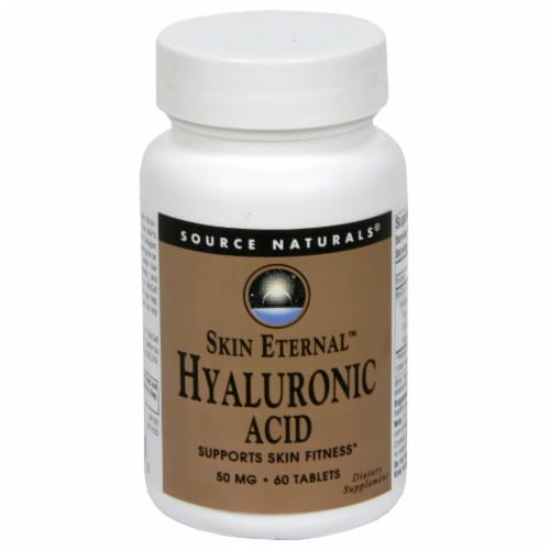 Source Naturals Skin Eternal Hyaluronic Acid 50 mg Tablets Perspective: front